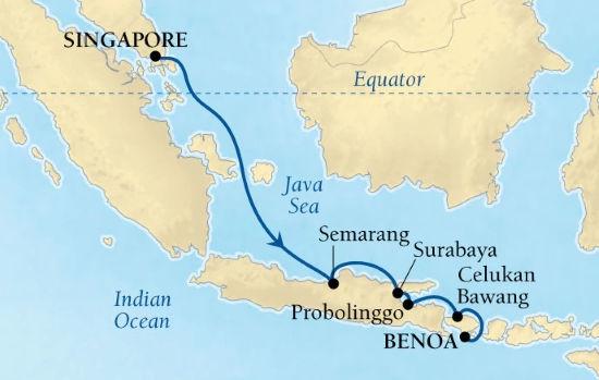 Seabourn SIN-Bali-27 Nov - 4Dec19 - maps