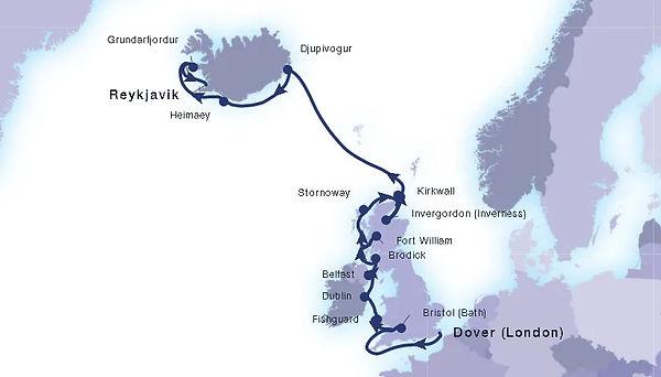 Seabourn 7 June 2021 London to Reykjavik