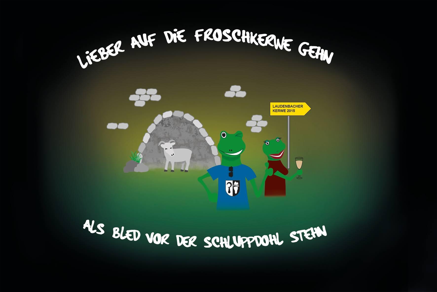 Spruch und Logo Frosch Kerwe