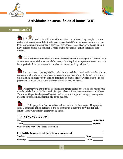 Home Connection  2-5 Spanish _Communicat
