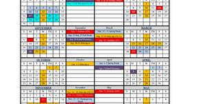 2020-2021 SCHOOL CALENDAR - UPDATED SEPTEMBER 2020