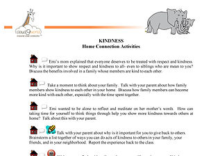 FXHome Connection Activities KINDNESS  E