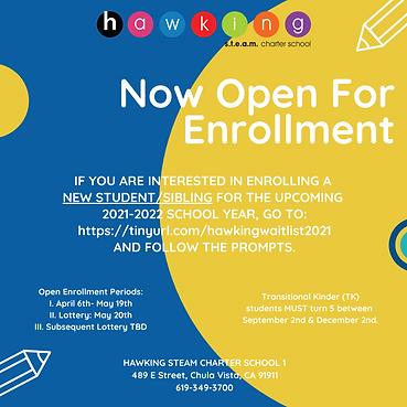 H1 Open Enrollment - New students_siblin