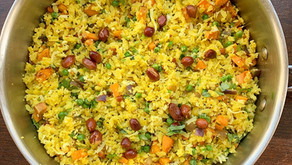 Avalakki / Flattened rice with nuts and veggies