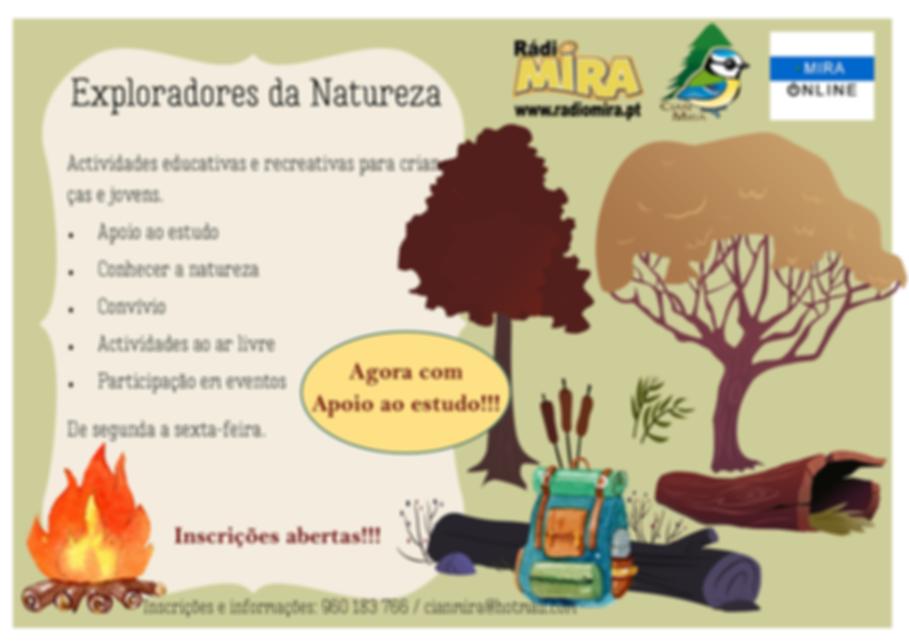 Apoio ao estudo + Exploradores da Nature