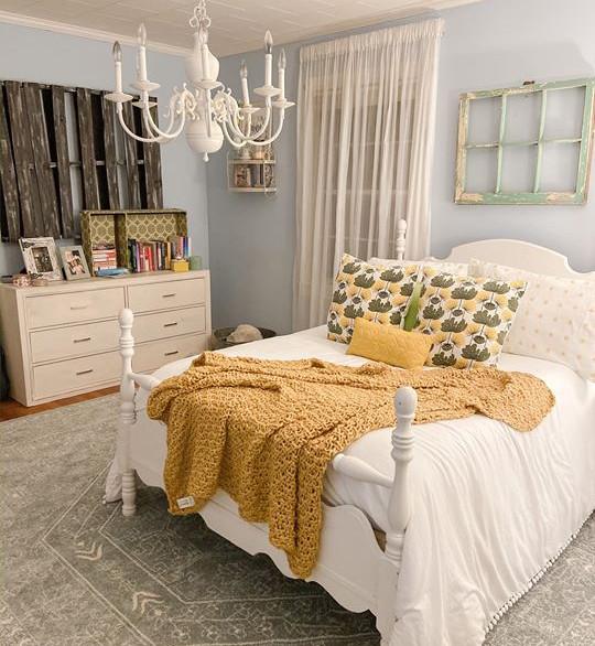 Bedroom with Vintage Furniture & Details