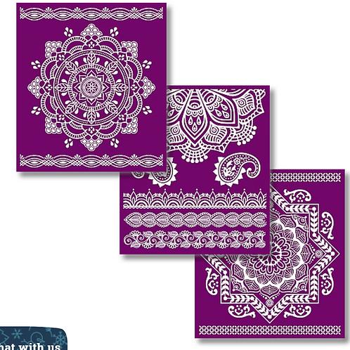 Mandala silkscreen stencils