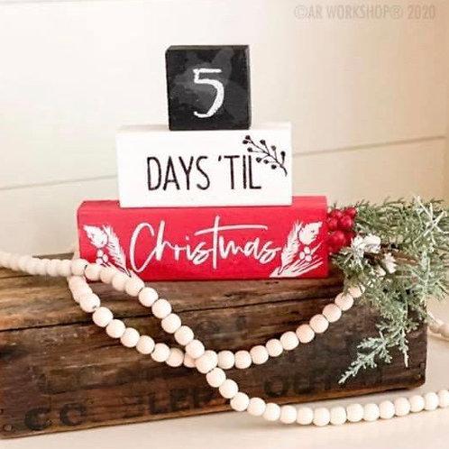 Days til Christmas blocks (set of 3)