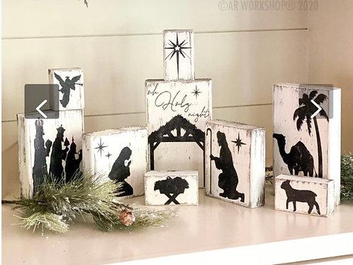 Nativity blocks (9 piece set)
