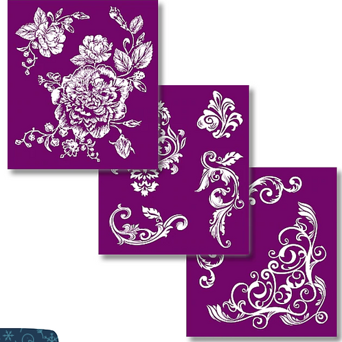 Floral Silkscreen stencil