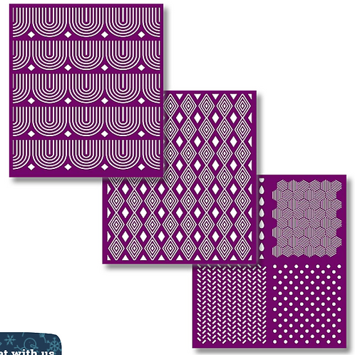 Patterns silkscreen stencils