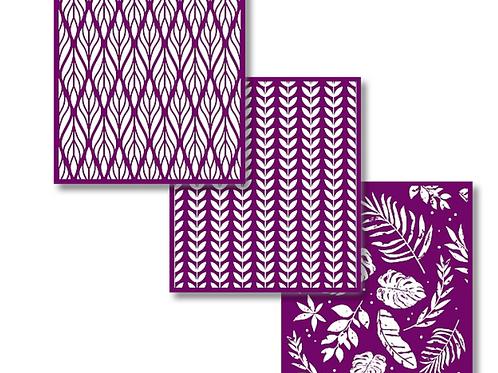 Botanical silkscreen stencils
