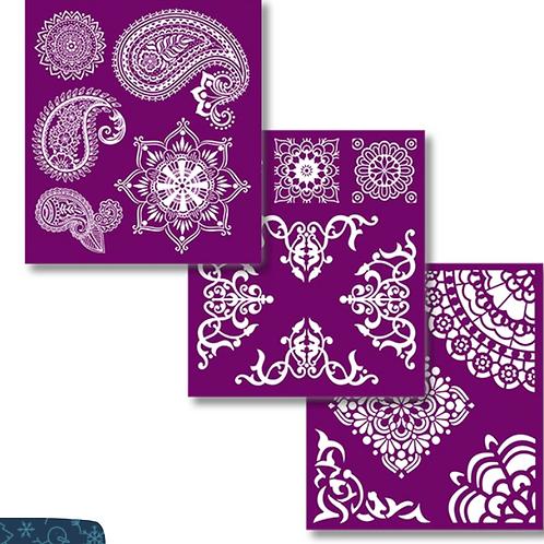 Mosaic silkscreen stencils