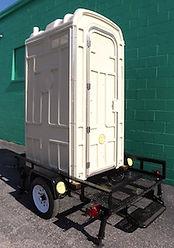 Trailer Mounted Porta Potty, Dump Valve, Dump Your Own Porta Potty
