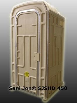 sani jon, larger, potty, toilet, portable, heavy duty, metal door jamb, hand sanitizer