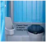 bodily fluids stored in stall of Porta Potty, contagion exposure from bodily fluids in Porta Potty