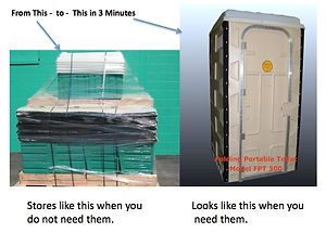 storage small footprint, consumables, deodorizer, emergency, toilets