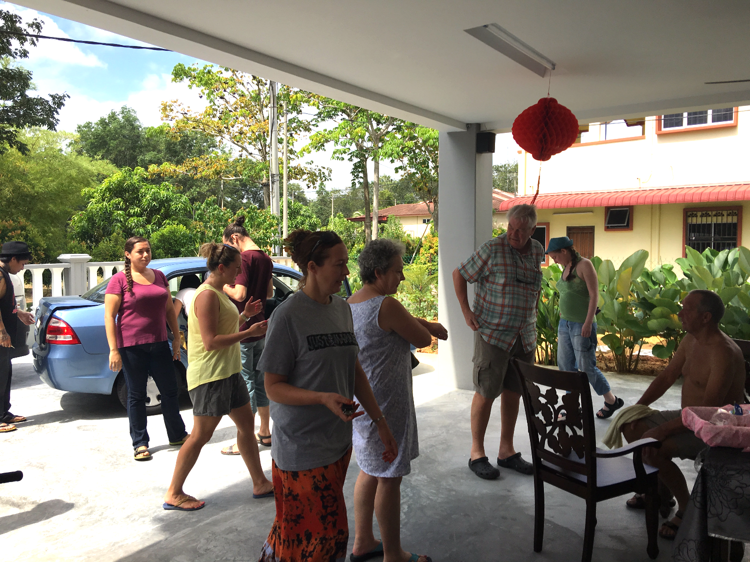 Homestay guests from UK