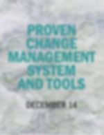 Proven Change Management & Tools Poster.