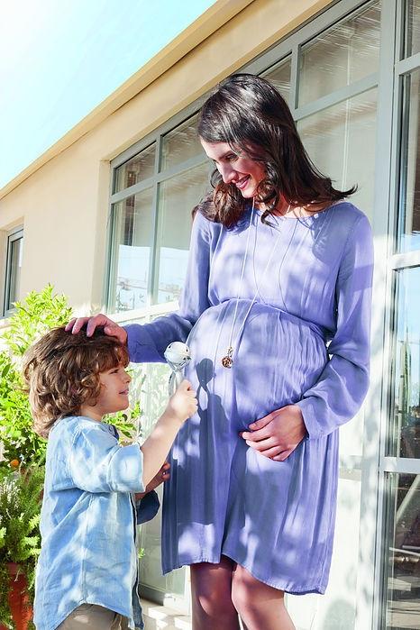 Bijoux de grossesse, bolas forme hochet en argent et plaqué or pour les mamans enceintes
