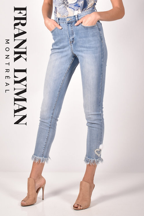Frank Lyman Light Blue/White Jeans Style 211126U