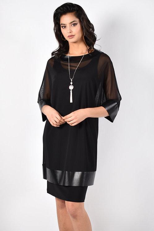 Frank Lyman 2 Piece Black Dress With Necklace Style 213435