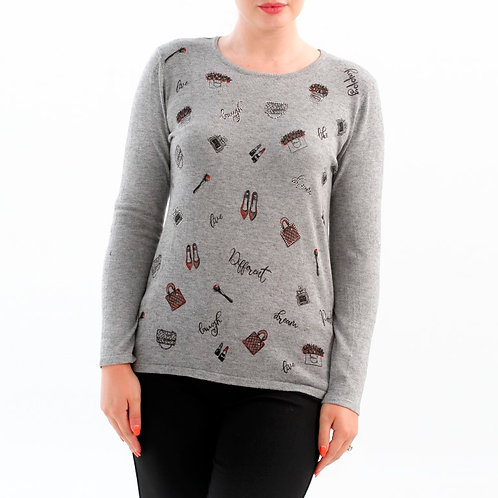 Goa Grey/Multi Light Sweater Style GN709