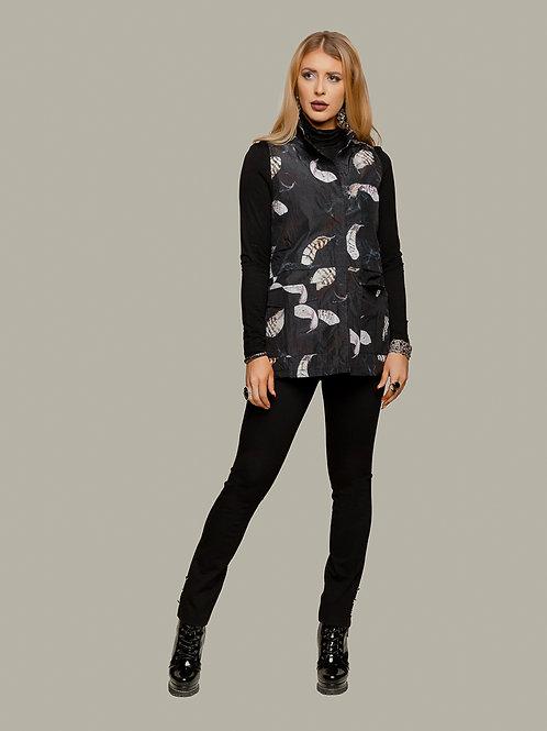 Minkas Black/Multi Sleeveless Vest Style CM164