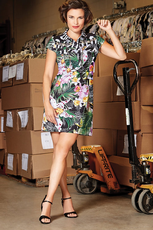 Tricotto Multi Tropical Dress Style 129