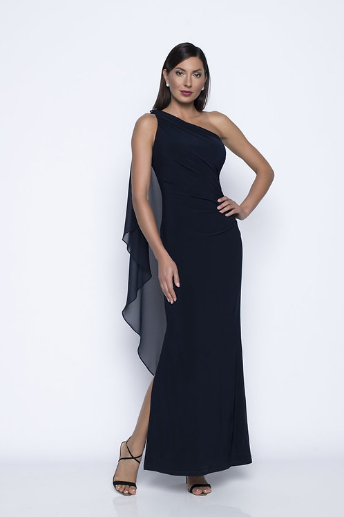 Frank Lyman Navy Long Dress #208019