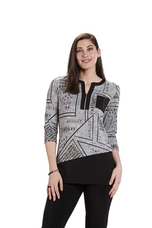 Crystal Black/Grey Tunic 10564