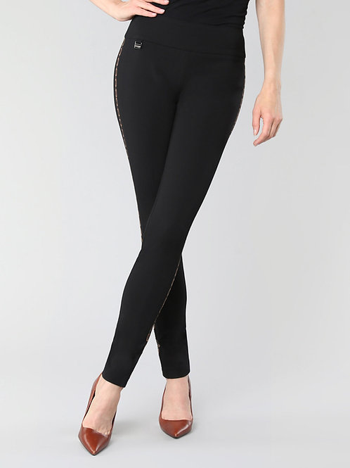 Lisette-L Black Chain Link Embroidery Pant Style 176667