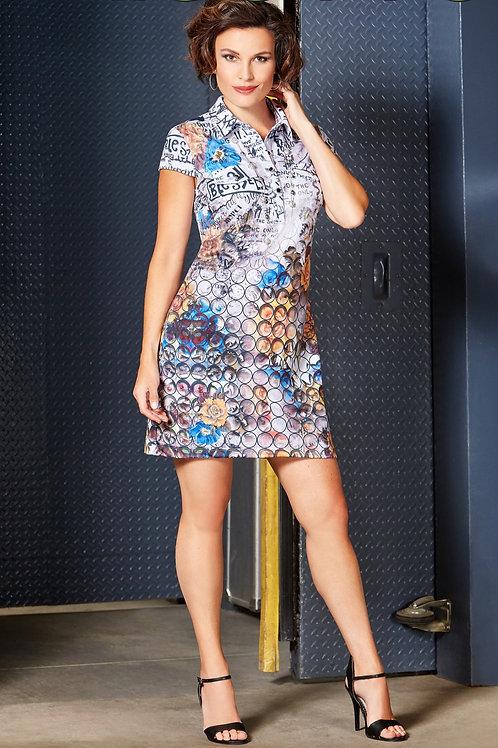 Tricotto White/Multi Dress Style 562