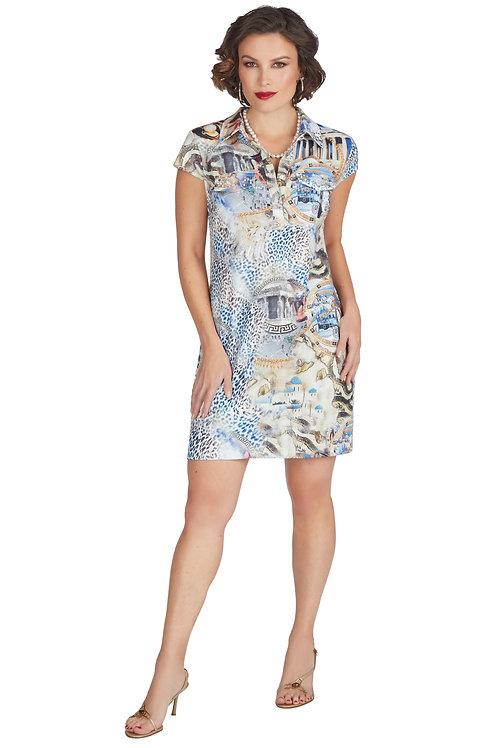 Tricotto Blue/Multi Dress Style 571