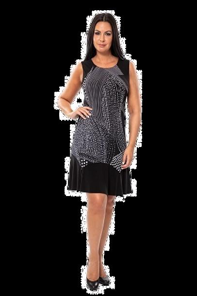 Bali Black/White Dress Style 7557