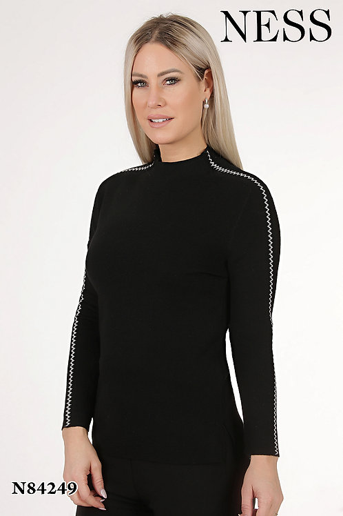 Ness Black/Off White Sweater Style 84249