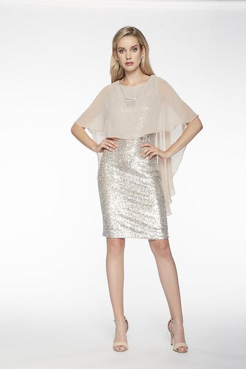Frank Lyman Champagne/Silver Dress  #198173