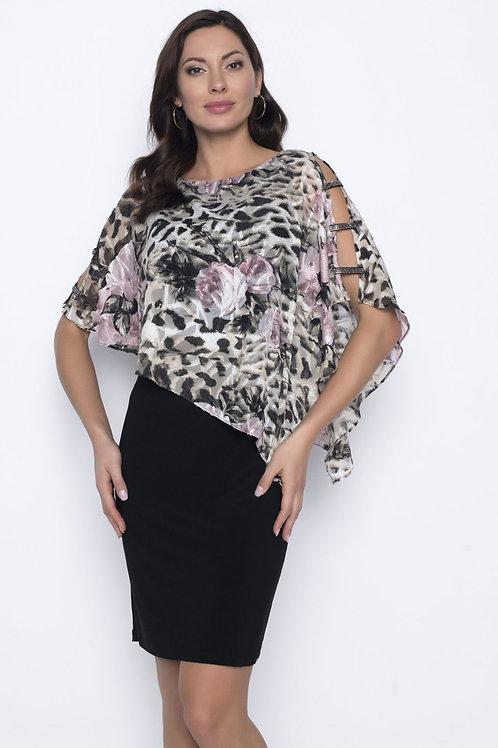 Frank Lyman Beige/Blush/Black Dress Style 203437