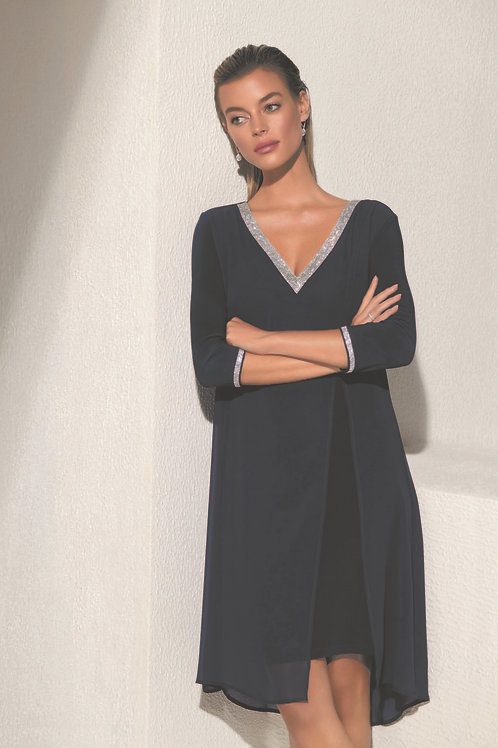 Frank Lyman Navy/Silver Dress #208003
