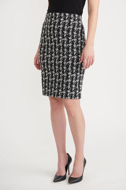 Joseph Ribkoff Black/Off White Skirt Style 203510