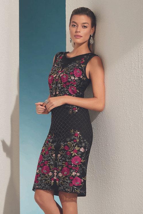 Frank Lyman Black/Cherry Dress Style 208111u