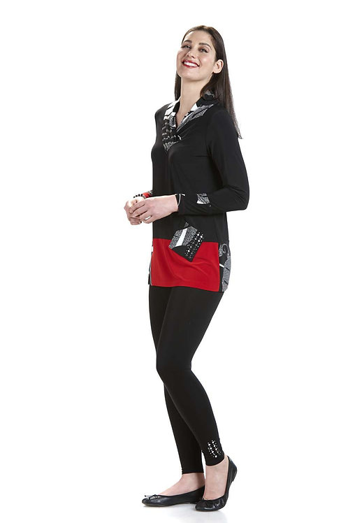 Crystal Black/Red Tunic 10554
