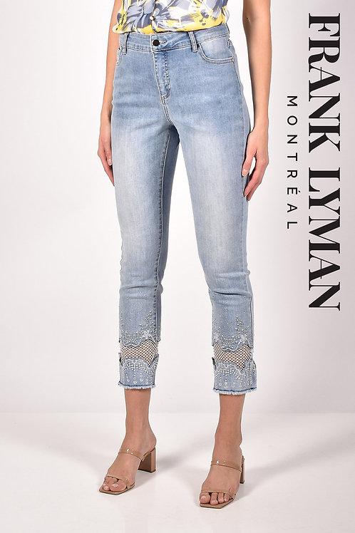 Frank Lyman Light Blue/White Jeans Style 211104U