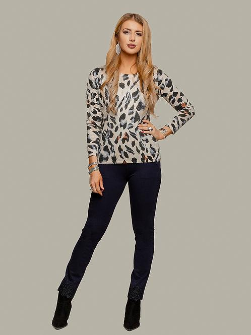 Minkas Beige/Multi Sweater Style AY507