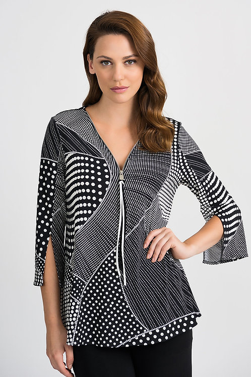 Joseph Ribkoff Black/White Tunic #201478