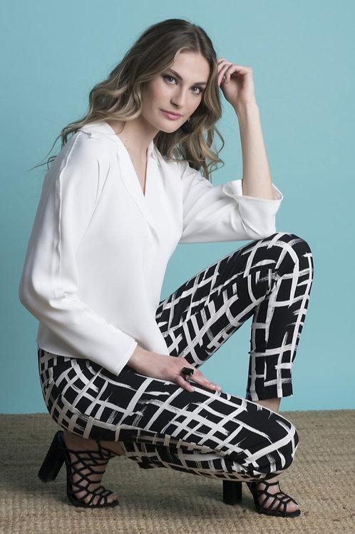 Frank Lyman Black/Off White Pants Style 216388