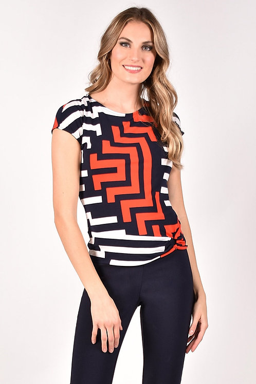 Frank Lyman Navy/White/Red Top Style 211324