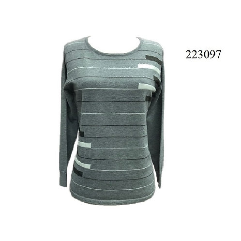 Beta Grey/Black Light Sweater Style 223097