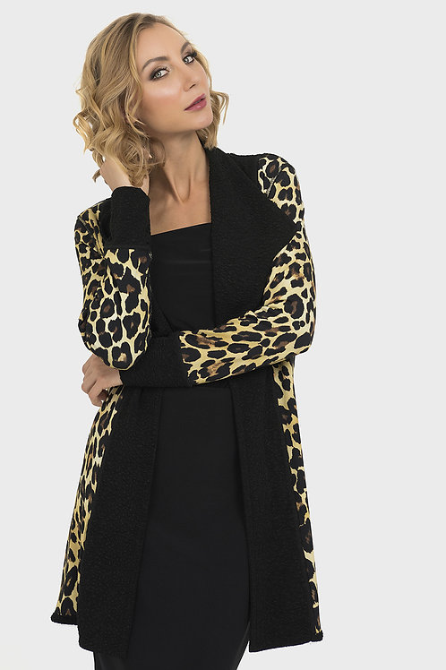 Joseph Ribkoff Reversible Black/Leopard Vest  #193442