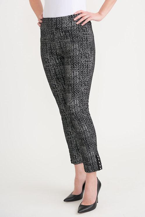 Joseph Ribkoff Black/Off White Pants Style 203350